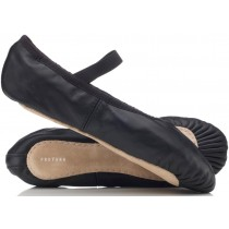 Black Leather Ballet Shoes