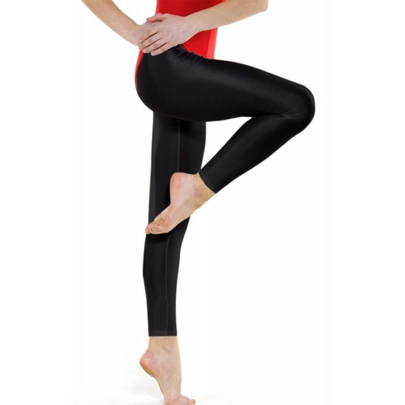 0648f9f413127 Nylon/ Lycra Black Footless Leggings