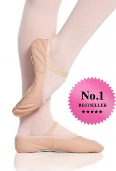 Pink Leather Ballet Shoes by proVora