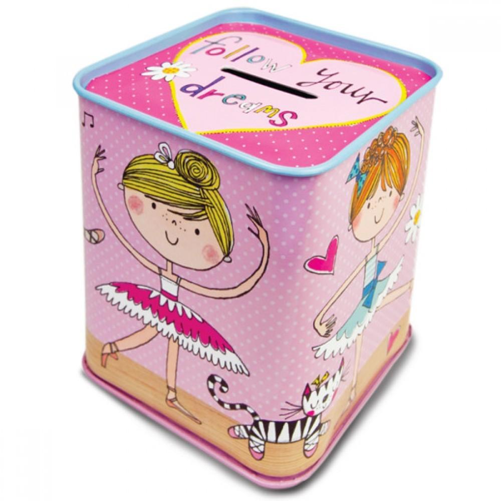 Ballerina Pink Money Box