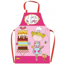 I Love to Bake Pink PVC Chef Apron