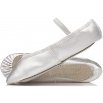 Satin Ballet or Bridesmaid Shoes White