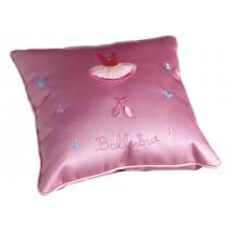 Pink Satin Ballerina Cushion