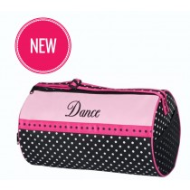 Black & Pink Polka Barrel Bag Bag