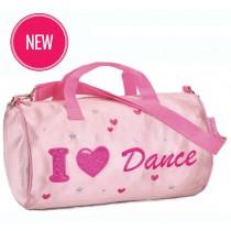 Sequin Heart Dance Barrel Bag