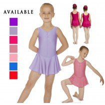 Nylon Ballet Leotard with Attached Skirt