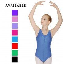 Lycra Sleeveless Leotard with ruche