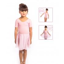 PINK Ballet Leotard & Skirt Set