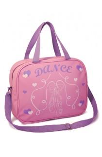 Pink & Lilac Soft Ballet Shoes Shoulder Bag