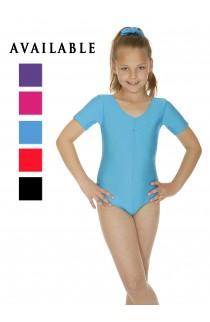 Short sleeved Lycra Leotard. Various Colours