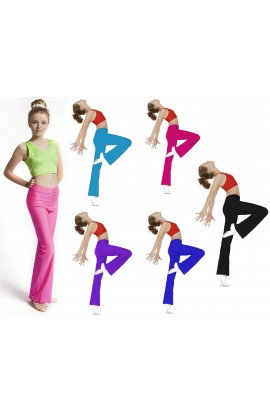 Coloured Nylon Lycra Jazz Pants