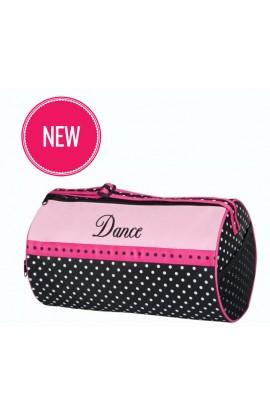 Black & Pink Polka Barrel Bag Bag