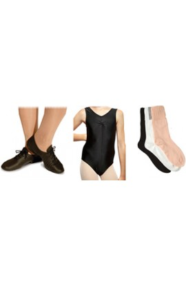 Jazz or Modern Starter Pack, with split sole jazz shoes, leotard and socks