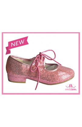 Pink Sparkle Tap Shoes