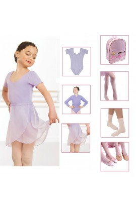 Ballet Starter Pack in LILAC,  everything to start ballet dance classes