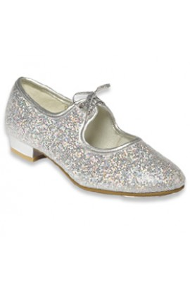 Silver Sparkle Tap Shoes