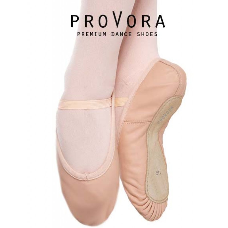 Provora leather ballet shoes