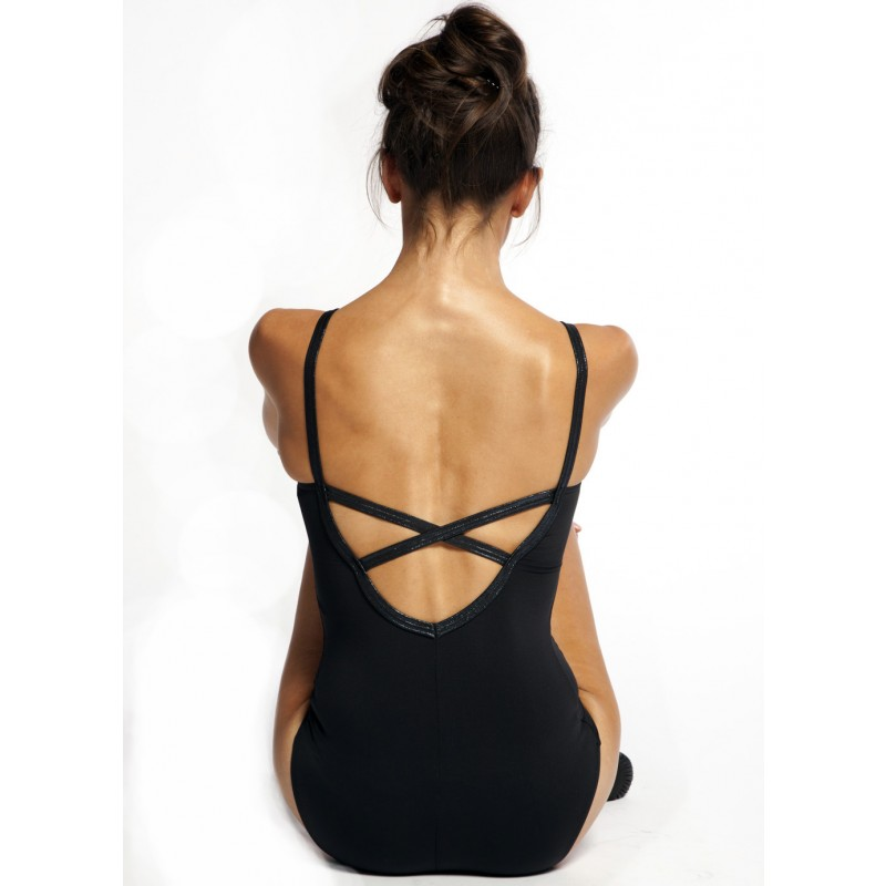 leotard with crossover straps